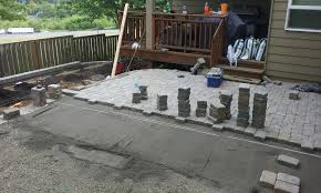simple paver patio have outdoor entertainment area traditional