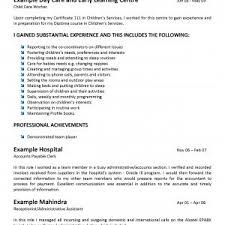 Child Resume Sample by Household Manager Private Childcare Provider Resume Samples