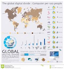 Diagram Of The World Map by The World Map Of Global Digital Divide Infographic Stock Vector