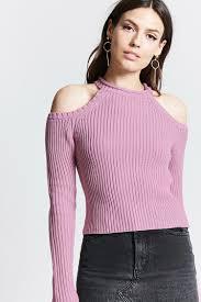 open shoulder sweater ribbed open shoulder sweater forever 21 2000140107