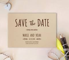 cheap save the date cards simple save the date card kraft wedding save the dates