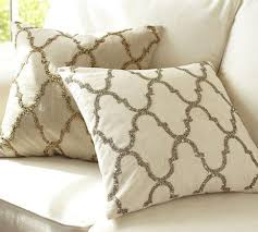 luxe sequin tile pillow cover pottery barn