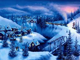 christmas christmas night in town wallpaper image inspirations
