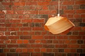Wood Veneer Pendant Light Veneer Pendant Light Shade Twist