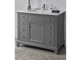 Porcelain Bathroom Vanity Bathroom Ideas Single Sink Grey 42 Inch Bathroom Vanity With