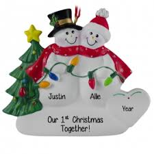 couples 1st christmas together ornaments personalized