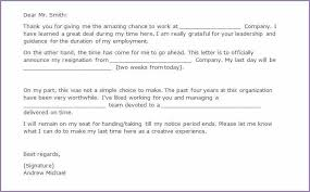 sample two weeks notice samplenotary cam