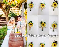 sunflower wedding etsy