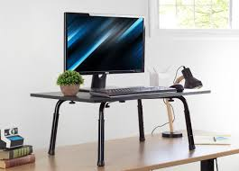 desk t v032 vivo standing height adjustable desktop stand stand