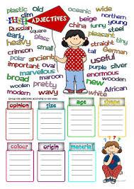 42 free esl parts of speech worksheets