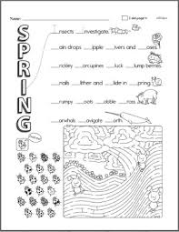 spring theme unit and printables ideas activities reading