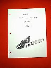 poulan chain saw models 6900 7700 8500 parts manual ebay
