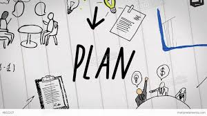 Plan by Colored Animation Of Business Plan Drawn Into Note Seo Animation