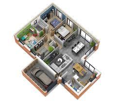 plan maison 3d d appartement 2 pi¨ces en 60 exemples tlchargement