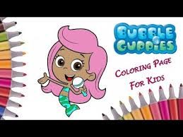 bubble guppies coloring book bubble guppies molly coloring