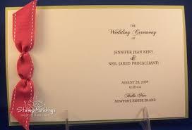 Make Wedding Programs Stampmonkeys Handmade Wedding Programs