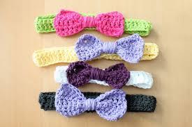 crochet headband for baby simply modern crochet bow headbands pattern