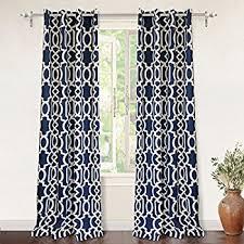 Navy Window Curtains Lush Decor Swirl Room Darkening Window Curtain Panel