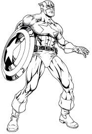 Captain America Face Coloring Pages 550029 Captain America Coloring Page