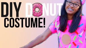 Easy T Shirt Halloween Costumes by Diy Donut Halloween Costume Cute Inexpensive And Easy Youtube