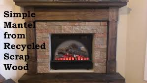 building a fireplace mantel from scrap wood youtube