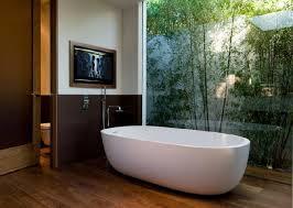 outdoor toilet design round mirror on the wall white wooden