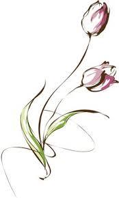 white tulip clipart best clipart best tulipa tattoo