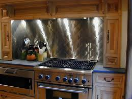 Stainless Steel Backsplash Tile Installation Stainless Steel - Stainless steel cooktop backsplash