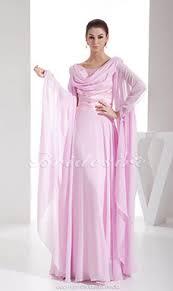 etui linie v ausschnitt bodenlang chiffon brautjungfernkleid mit blumen p629 bridesire rosa abendkleider rosa