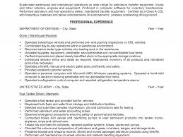 Sample Resume Objectives Factory Worker by 100 Sample Resume Of Driver Mechanic Functional Sample