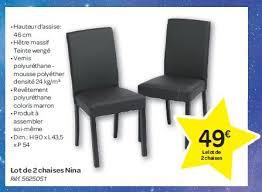 chaises carrefour carrefour promotion lot de 2 chaises produit maison avec luxe