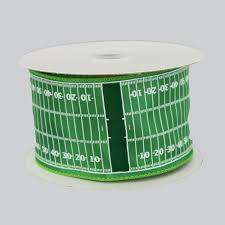 football ribbon 2 5 football field yardline wire edge ribbon 10 yards package