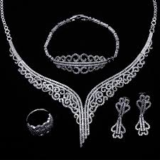 aliexpress buy new arrival white gold color aaa aliexpress buy bridal jewelry set gold color white aaa cz