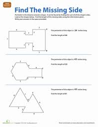 find the missing side worksheet education com