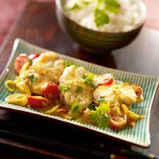 cuisiner la lotte au curry suzi wan curry de lotte au lait de coco