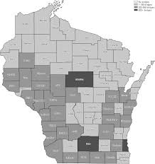 Wisconsin Counties Map by Uglybridges Com Wisconsin Coverage Map