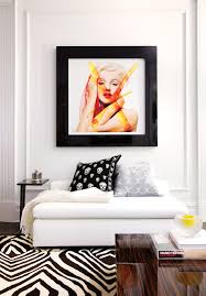 Marilyn Monroe Living Room by Black And White Chatelaine