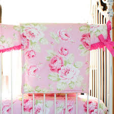 vintage shabby chic roses floral pink baby bedding set u2013 jack