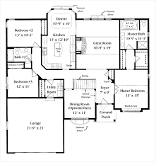 ranch home floor plans 4 bedroom breton home plan 4 bedroom 2 bathroom 2 017 sq ft 1 1 2 story