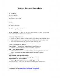 Medical Objective For Resume Resume For Medical Doctor Resume For Your Job Application