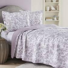 laura ashley home amberley heather quilt set moderm room