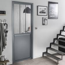 fenetre metal style atelier verrière atelier aluminium gris vitrage non fourni h 1 08 x l