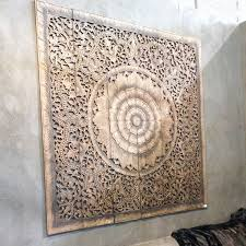 mandala carved wood wall panel siam sawadee