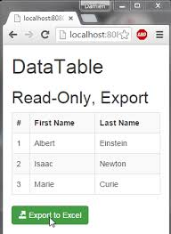 Bootstrap Data Table Javaee Angularjs Bootstrap Datatable And Excel Export Damien