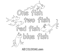 dr seuss one fish two fish coloring pages virtren com