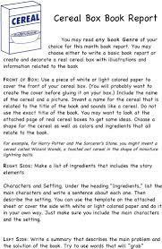 Samples Of Book Report Cereal Box Book Report Template Download Free Premium