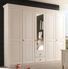 Komplett Schlafzimmer Vergleich Kleiderschrank 5 Türig Schlafzimmerschrank Kiefer 2farbig Weiß