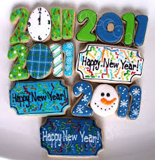 New Years Eve Decorated Cookies by 16 Best Decorated Cookies New Year Images On Pinterest