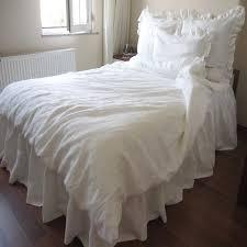 Ruffle Duvet Cover King Linen Duvet Cover King Luxury King Size Bedding Set Queen Light