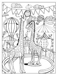 beautiful circus tent coloring gallery cirque animal train